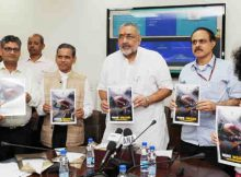 Giriraj Singh launching the 'MSME Insider', monthly e-Newsletter of the Ministry, in New Delhi on September 19, 2018 (file photo)