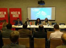Ms. Alka Arora, JS (SME) addressing entrepreneurs about the opportunities for cooperation between the SMEs of India and Poland at the 8th European Congress ,Katowice, Poland.