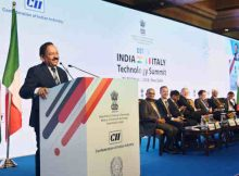 Harsh Vardhan addressing at the inauguration of the India-Italy Technology Summit, in New Delhi on October 29, 2018