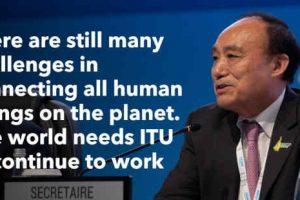 Houlin Zhao of China Re-elected as ITU Secretary-General