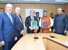 India's Minister of Law & Justice, Ravi Shankar Prasad, and his Moroccan counterpart Mohammed Auajjar, Minister of Justice. Photo: PIB