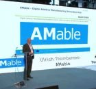 Ulrich Thombansen, from AMable, presenting at the IN(3D)USTRY 2018 in Barcelona.