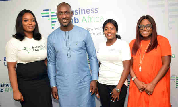 L-R:Tricia Ikponmwonba, Lead Trainer, Business Lab Africa; Jimi Tewe, CEO The Jimi Tewe Company; Romoke Oladejo Community Manager, Business Lab Africa and Funke Bucknor, CEO Zapphaire Events at the media unveil of Business Africa Lab in Lagos.