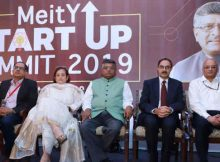 "Ravi Shankar Prasad at the ""MeitY Start-up Summit on Leveraging Technology for Socio-Economic Growth"", in New Delhi on October 21, 2019."