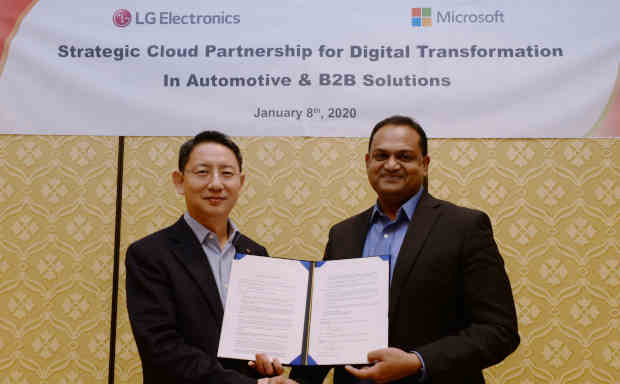 LG Joins Hands with Microsoft to Build Automotive Infotainment Systems. Photo: LG