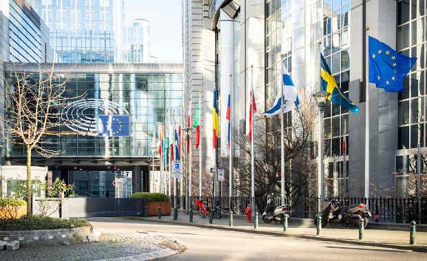 EU flags outside the European Parliament in Brussels. Photo: European Parliament