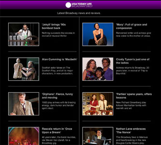 USA TODAY Mobile App for Tony Awards