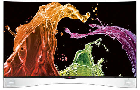 LG Super-Thin Curved Screen TVs