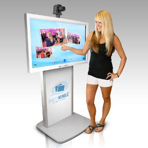 PhotoMingle Touchscreen Social Photo-Kiosk