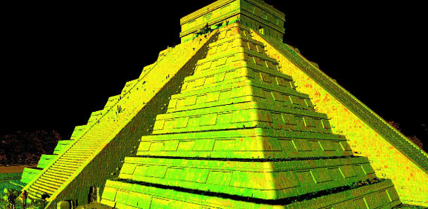 CyArk uses 3D-laser scanners to create digital copies of heritage sites like the pyramid El Castillo at Chichen Itza in Mexico