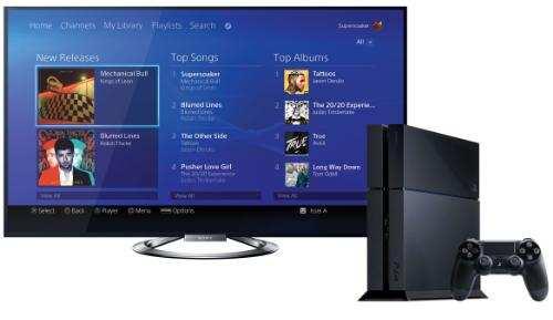 Digital Music Service on PlayStation 4