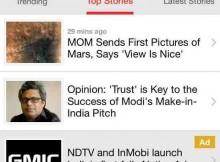 NDTV Brings InMobi Native Advertising on Mobile in India