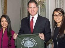 Michael Dell, CEO of Dell, accepts the Vision for America Award