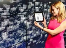 Leanne LeBlanc, IBM Watson project manager, views analytics of healthcare data at Watson headquarters in New York City, on Monday, April 13, 2015.