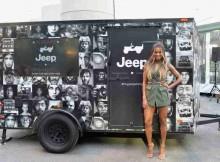 Ciara celebrates Jeep brand 's 75th anniversary by visiting Camp Jeep at NYAS