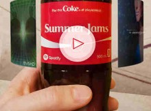 Play a Coke App Features Spotify Playlists on Coca-Cola Bottles