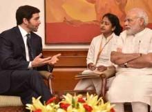 Narendra Modi with Jeff Weiner
