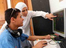 Innovators using a specialised computer. Photo: UNICEF/Giacomo Pirozzi