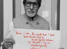 Amitabh Bachchan Stars in Social Media Campaign #WeAreEqual