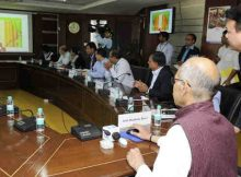 Anil Madhav Dave launching the CRZ Portal, at a function, in New Delhi on March 08, 2017