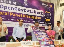 Ravi Shankar Prasad launching the Hackathon, at a function, in New Delhi on September 12, 2017