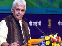"""The Minister of State for Communications (I/C) and Railways, Shri Manoj Sinha addressing at the launch of the """"DARPAN"""" - Digital Advancement of Rural Post Office for a New India, in New Delhi on December 21, 2017. (file photo)"""