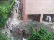 Deadly dust and noise pollution is caused by illegal construction in a cooperative group housing society of Dwarka, New Delhi. Government has failed to control the corrupt managing committees (MCs) of housing societies. Click the photo to know the details.