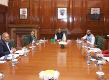 Rajnath Singh chairing a review meeting of Cyber & Information Security (CIS) Division of MHA, in New Delhi on January 17, 2018