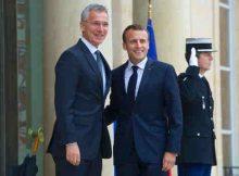 NATO Secretary General Jens Stoltenberg meets with the President of France, Emmanuel Macron. Photo: NATO