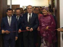The UN Deputy Secretary-General, Amina Mohammed (right) and Faruk Özlü (centre), Minister of Science, Industry and Technology of Turkey inaugurate the Technology Bank. Photo: UN