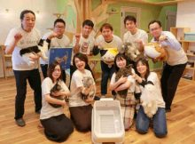 Team Hachi Tama celebrates the toletta smart litter box.