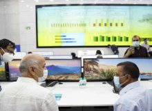 Chief Minister of Delhi, Arvind Kejriwal, in Delhi Government's Integrated Command and Control Centre (ICCC) to manage Covid-19 in Delhi on May 15, 2021. Photo: Arvind Kejriwal / Delhi Government